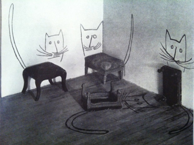 Saul Steinberg: Stool Cats